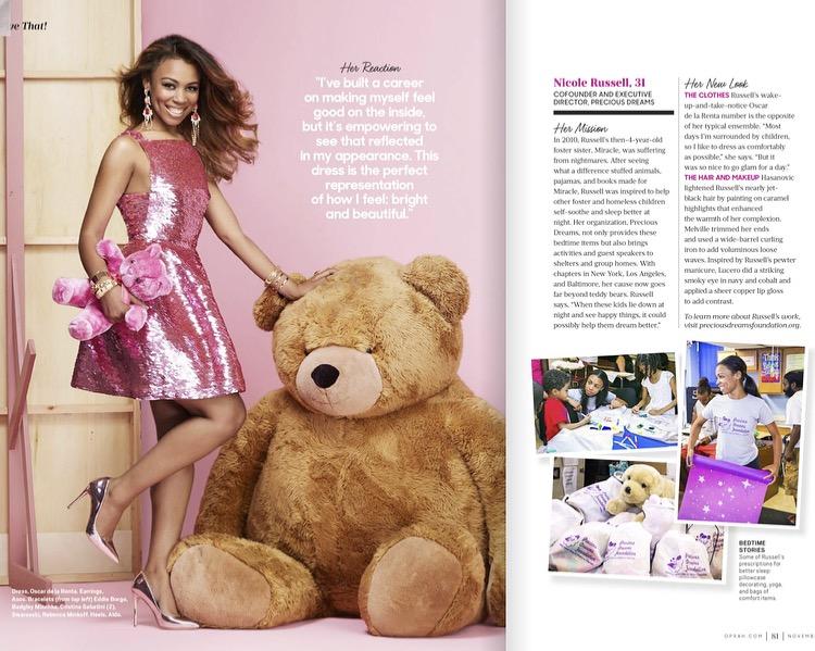 Nicole Russel in Oprah Magazine