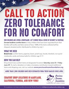 Call to Action Zero Tolerance for No Comfort