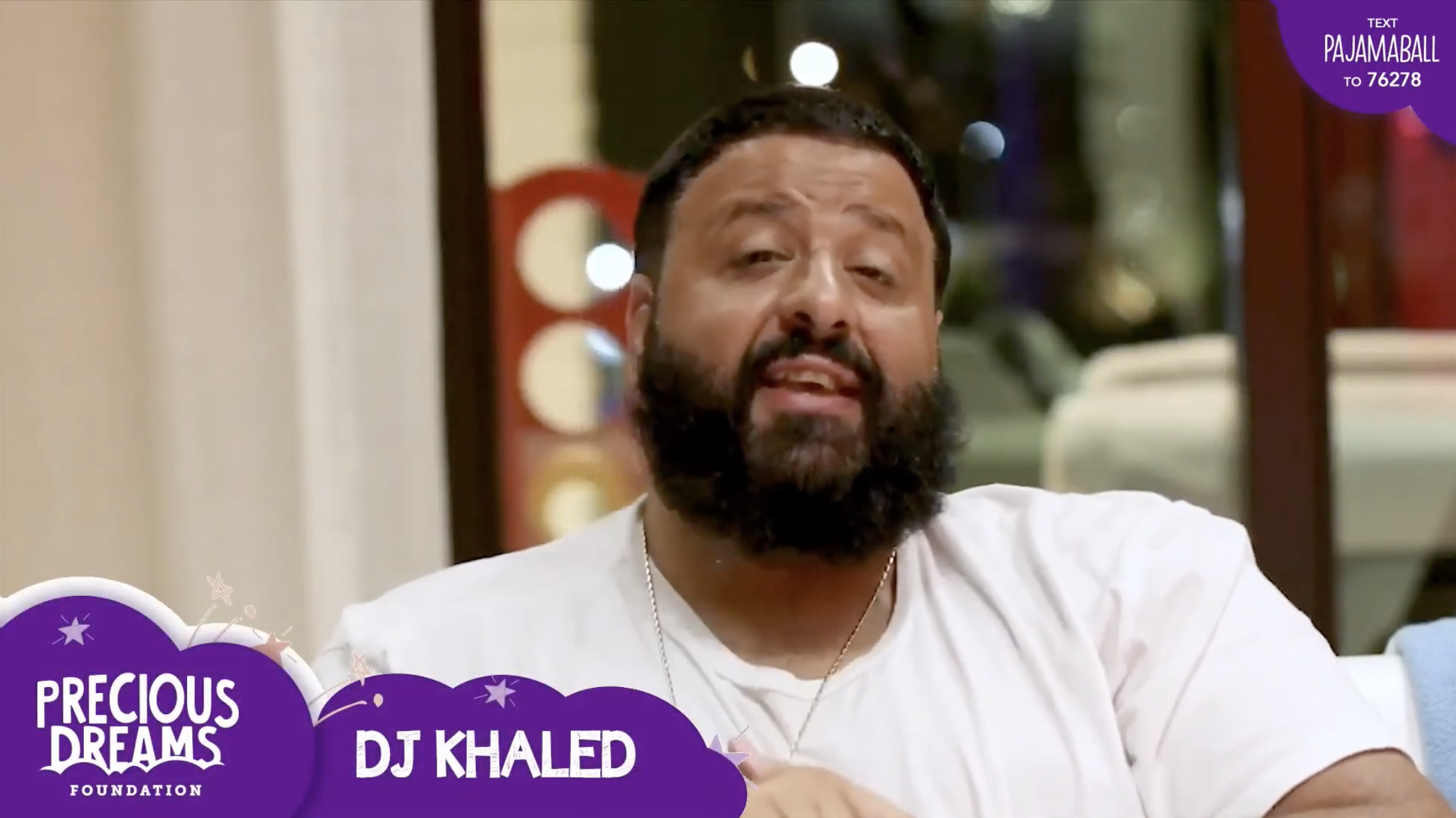 DJ Khaled showing support for Precious Dreams Foundation